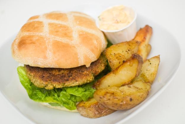 vegetarburger kikertburger