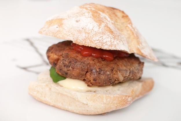 monoburger vegansk oppskrift