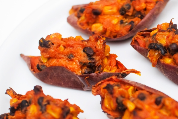 Vegan sweet potato skins oppskrift
