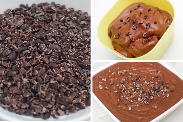 KAKAONIBS: Småbiter av skrellede kakaobønner, kjempegod snacs, garnityr eller ingrediens i smoothies og rå kaker.