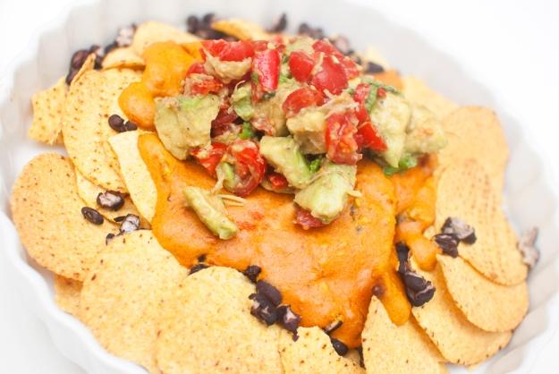 vegansk nachos